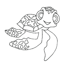 Cute Turtle Coloring Pages Fantasticbloginfo