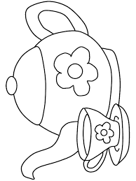 Tea Party Coloring Pages Printable Tea Party Coloring Pages Coloring