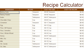 Food Cost Calculator Spreadsheet Great How To Create An Excel