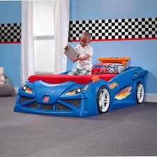 Step2 Hot Wheels Twin Plastic Kids Bed-854600 - The Home Depot
