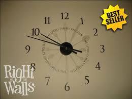 clock wall art stickers