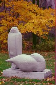 granite garden or yard outside and outdoor sculpture by sculptor margot mcmahon titled