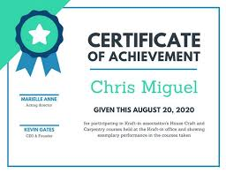 Certificate Of Achievement Templates Free New Customize 48 Achievement Certificate Templates Online Canva