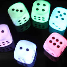 Dice With Lights 2019 New Acrylic Battery Creative Discoloration Dice Led Night Head Bedroom Decoration Light Home Decor Lights Nightlight 20