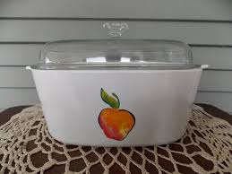 details about vintage corning ware a 5 b fruit basket pattern 5 qt casserole dish w glass lid