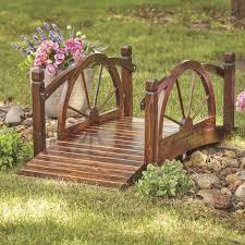 wagon wheel wood garden bridge 5ft