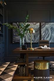paint ideas for home office. Masculine Home Office Paint Ideas! We Recommend A Deep Blue And Classic Black-and-white Marble Floors. It\u0027s Handsome Combination That Any Father Ideas For