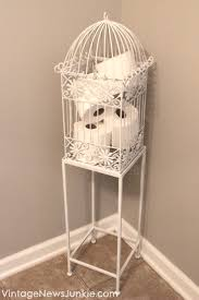 Birdcage in Your Bathroom {A Unique Storage Solution}