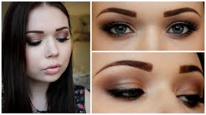 prom makeup for brown eyes prom makeup tutorial brown gold smokey eyes you
