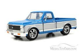 1972 Chevy Cheyenne Pickup Truck, Blue - Jada Toys Bigtime Kustoms ...