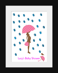 Capture The Memories Of Your Baby Shower With This Customized Fingerprint Baby Shower Tree