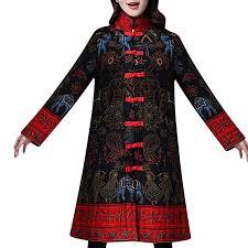 Toimoth Women Chinese Style Costume Plus Size Button Coat Folk Cotton Jacket
