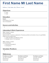 Entry Level Resume Template Extraordinary Resume Template Free Download Entrylevel Focus Blue Underline