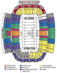 Nc State Seating Chart Nc State Wolfpack Football Seating Chart Nc State Wolfpack