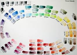 Derwent Coloursoft Color Chart Markers Guild Derwent Coloursoft