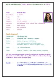 Biodata Resumes How To Write Height In Biodata Resume Format For Marriage Free