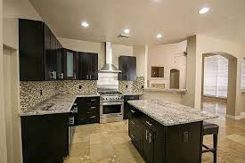 interesting granite top kitchen island with and breakfast bar decor 3