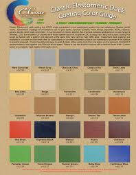 Cool Deck Paint Color Chart Classic Elastomeric Deck Coating Colors