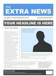 Free Front Page Newspaper Template Free Newspaper Template Pack For Word Perfect School In Front Page