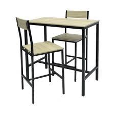 MIMOZA Ensemble table haute de 2 a 4 personnes + 2 chaises de bar ...