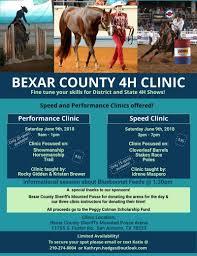 Events Bexar County 4h Youth Horsemanship Clinic 2018 San Antonio