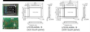 Lc Series Command Type Tft Lcd Modules Futaba Mouser
