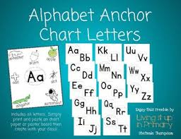 Alphabet Anchor Chart Letters By Living It Up In Primary Tpt