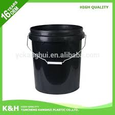 20 gallon bucket. 20 Gallon Bucket New Design 5 Black Plastic Oil Paint Liter E