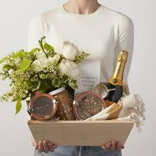 simone leblanc a joyful morning gift box with flowers champagne