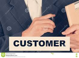 Customer Quotes Business Man Background Retro Filter Stock Image