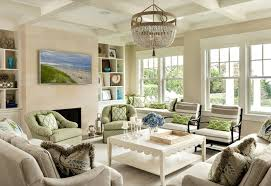 beachy living room. Green And White Beach House Living Room Beachy D