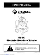 Greenlee 881 Table Bender Chart Greenlee 555c Instruction Manual Pdf Download