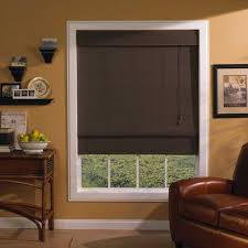 ... Where To Buy Blinds And Shades Blinds Lowes Dark Brown Roman Shades  Warm Brown ...
