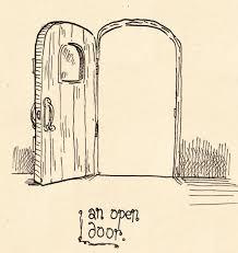 728x771 amazing of open door drawing with interesting half open door
