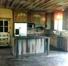 corrugated metal ceiling ideas tin kitchen kitchens with tiles