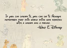 Disney Quotes About Dreams Fascinating WALT DISNEY QUOTES DREAM AND A MOUSE Image Quotes At Relatably