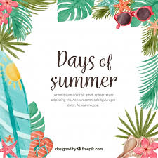 summer background days of summer background with watercolor elements vector free