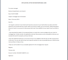 Application Letter For New Mortgage Loan Smart Letters