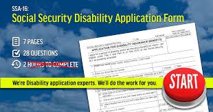 Ssa-16: Social Security Disability Application Form - Ssdhelpnow.com