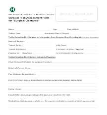 Employee Clearance Form Fascinating Medical Clearance For Dental Treatment Template Awesome Collection