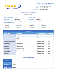 Meeting Agenda Template For Project Team Templates Download