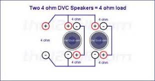 speaker wiring diagram series parallel images ohms in how to wire a dvc subwoofer 4 ohm 2 ohm series parallel