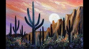231 desert moon 8x10 oils over acrylic on canvas board