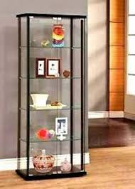 tall curio cabinet. Wonderful Tall Image Is Loading ClearGlassCurioCabinetDisplayCaseWShelves And Tall Curio Cabinet N