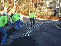 tire track radiant heated driveway installation heated tire track radiant heated driveway installation