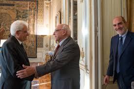 Il Presidente dell'Associazione Gennaro Acquaviva e il Direttore di Mondoperaio  Luigi Covatta ricevuti dal Presidente della Repubblica Sergio Mattarella –  Fondazione Socialismo