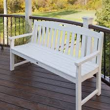 Trex Outdoor Furniture Yacht Club Bench Classic White 48W in