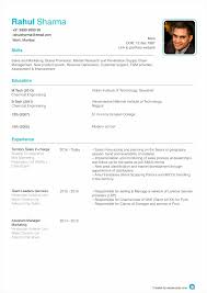 Photo Resume Format Free Resume Example And Writing Download