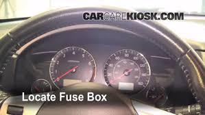 interior fuse box location 2003 2008 infiniti fx35 2006 infiniti 2003 Infiniti G35 Fuse Box Diagram locate interior fuse box and remove cover