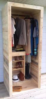 Cupboards Made From Pallets Built A Pallet Wardrobe Or Pallet Closet